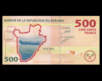 Burundi, p-50, 500 francs, 2015