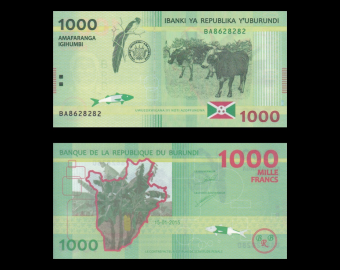 Burundi, P-51, 1000 francs, 2015