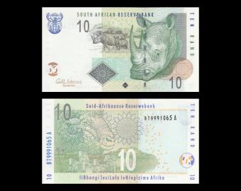 Afrique-du-Sud, p-128b, 10 rand, 2009
