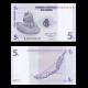 Congo, P-81, 5 centimes, 1997