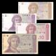 Croatie, lot de 4 billets, 1991