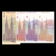 Croatie, lot de 4 billets, 1991