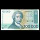 Croatie, P-27, 100.000 dinara, 1993, recto