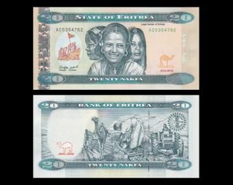 Erythrée, P-12, 20 nakfa, 2012