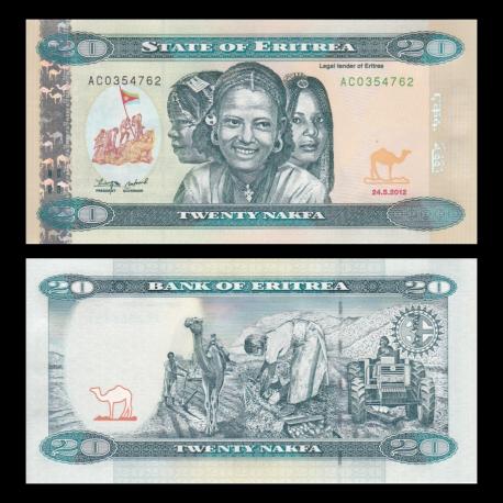 Eritrea, P-12, 20 nakfa, 2012