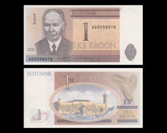 Estonia, P-69, 1 kroon, 1992