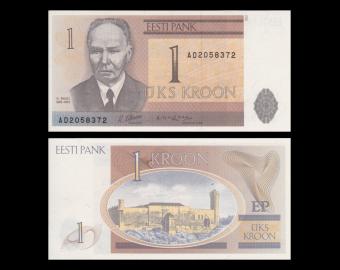 Estonie, P-69, 1 kroon, 1992