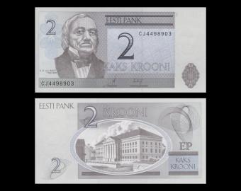Estonia, P-85b, 2 krooni, 2007