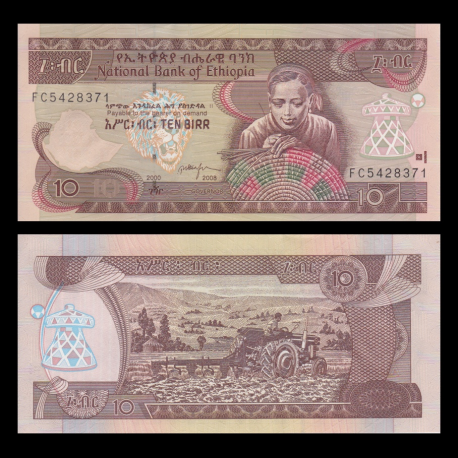 Ethiopia, p-48e, 10 birr, 2008