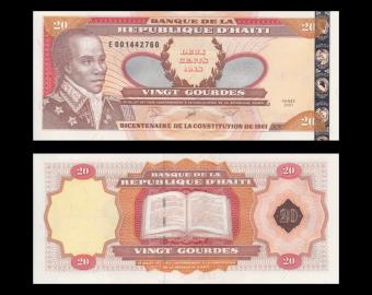Haiti, p-271A, 20 gourdes, 2001
