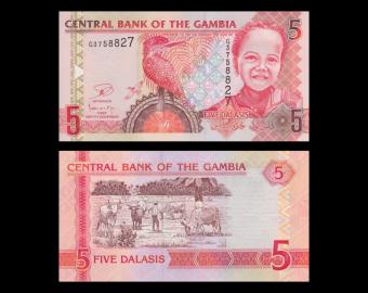 Gambia, p-25c, 5 dalasis, 2013