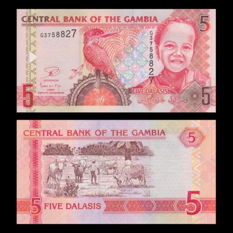 Gambia, p-New05-2013, 5 dalasis, 2013