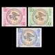 Kyrgyzstan, 3 banknotes set