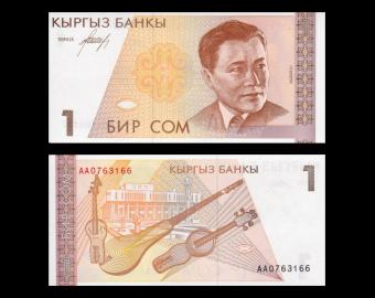 Kirghizistan, P-07, 1 som, 1994