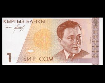 Kyrgyzstan, P-07, 1 som, 1994
