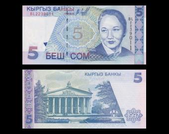 Kyrgyzstan, P-13, 5 som, 1997