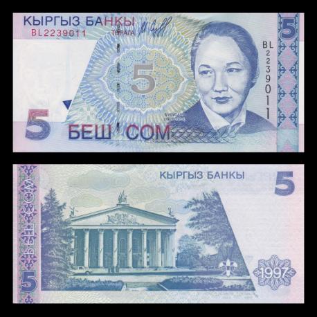 Kirghizistan, p-13, 5 som, 1997