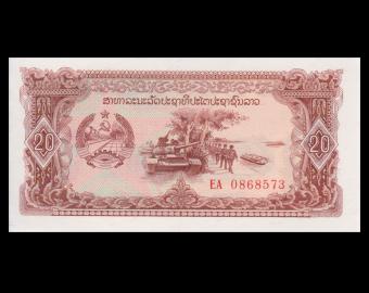 Laos, P-28r, 20 kip, 1979