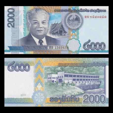 Laos, p-41, 2000 kip, 2011