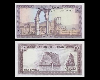 Liban, P-63f, 10 livres, 1986