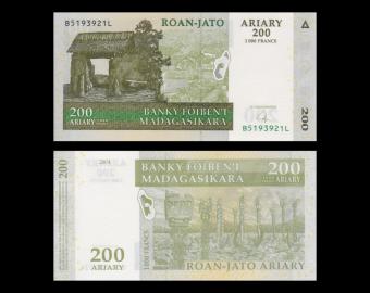 Madagascar, P-87b, 200 ariary, 2004
