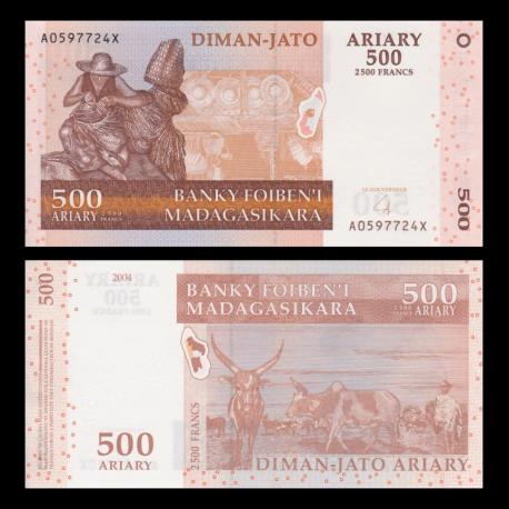Madagascar, 500 ariary, 2004