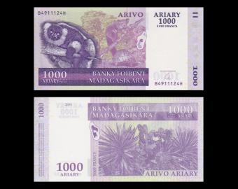 Madagascar, P-089b, 1000 ariary, 2004