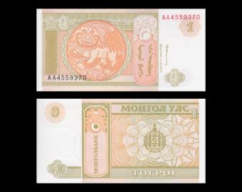 Mongolia, 1 tugrik, 1993