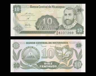 Nicaragua, P-169b, 10 centavos, 1991