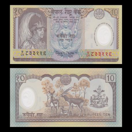 Nepal, P-45, 10 rupees, Polymer, 2002