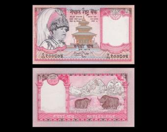 Nepal, P-46, 5 roupies, 2002
