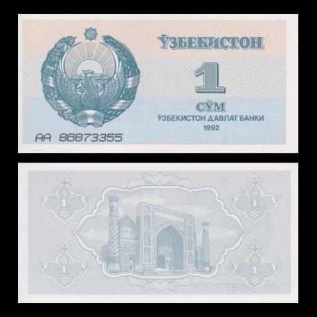 Uzbekistan, P-61, 1 som, 1992