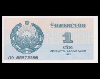 Ouzbekistan, P-61, 1 som, 1992