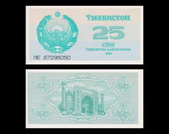 Uzbekistan, P-65, 25 som, 1992