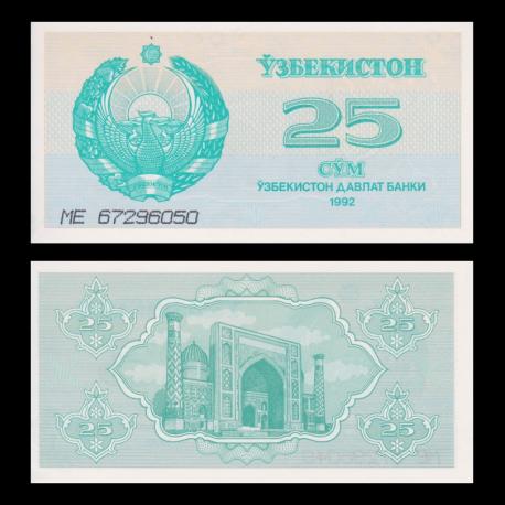 Ouzbekistan, P-65, 25 som, 1992
