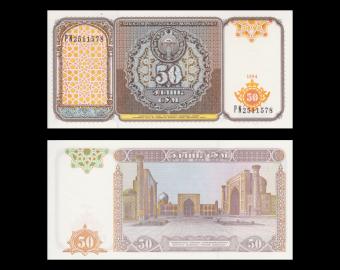 Uzbekistan, P-78, 50 sum, 1994