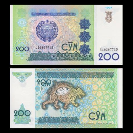 Uzbekistan, p-80, 200 sum, 1997