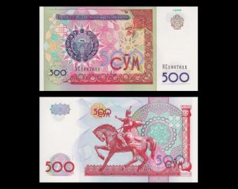 Uzbekistan, P-81, 500 sum, 1999