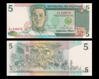 Philippines, P-168d, 5 piso, 1994