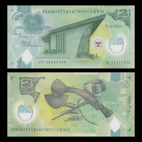 Papua New Guinea, p-35, 2 kina, Polymer, 2008