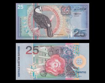 Surinam, p-148, 25 gulden, 2000