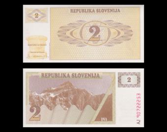 Slovénie, P-02, 2 tolarjev, 1990