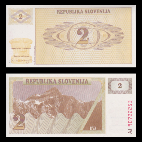 Slovenia, 2 tolarjev