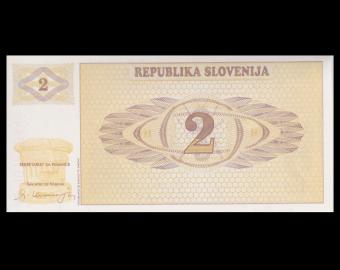 Slovenia, P-02, 2 tolarjev, 1990