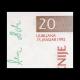 Slovénie, 20 tolarjev, 1992