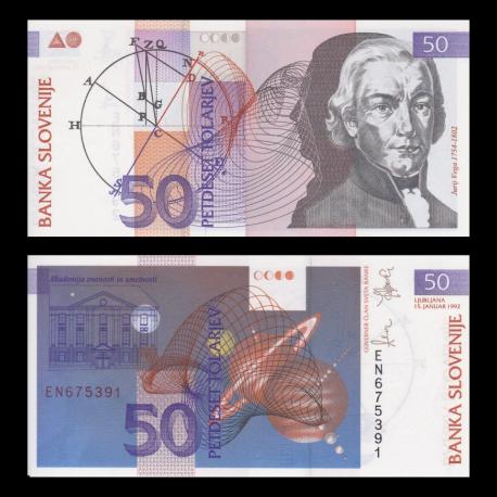 Slovénie, P-13, 50 tolarjev, 1992