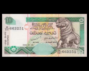 Sri Lanka, P-115e, 10 roupies, 2006