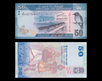 Sri Lanka, p-124, 50 roupies, 2010