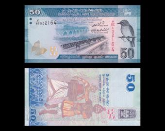 Sri Lanka, p-124, 50 rupees, 2010