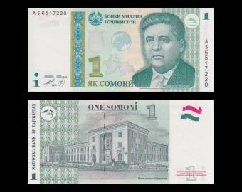 Tajikistan, p-14A, 1 somoni, 1999